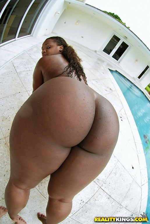 Round and brown big ass
